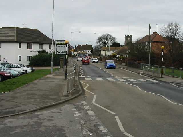Looking S along Newington Road towards St Lawrence