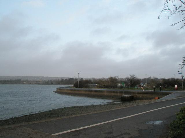 Coastal footpath at Hilsea