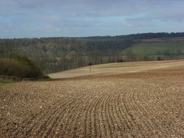 Farmland above Hambleden Valley