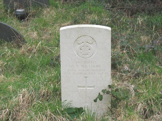 A Welsh Fusilier's grave