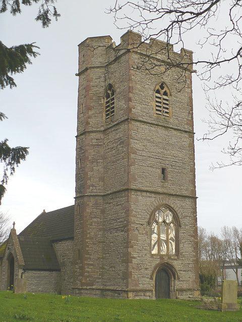 St Cadwalader's Church tower, Bishton