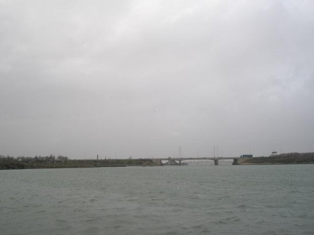 Motorway bridge as seen from Hilsea coastal path