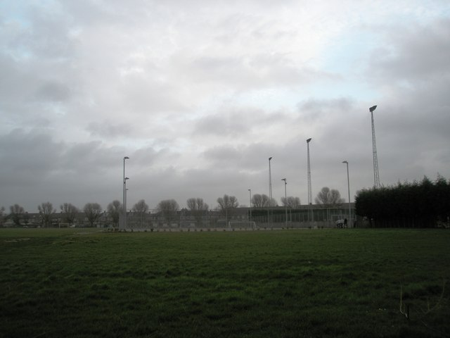 Looking towards the all weather pitch at Alexandra Park