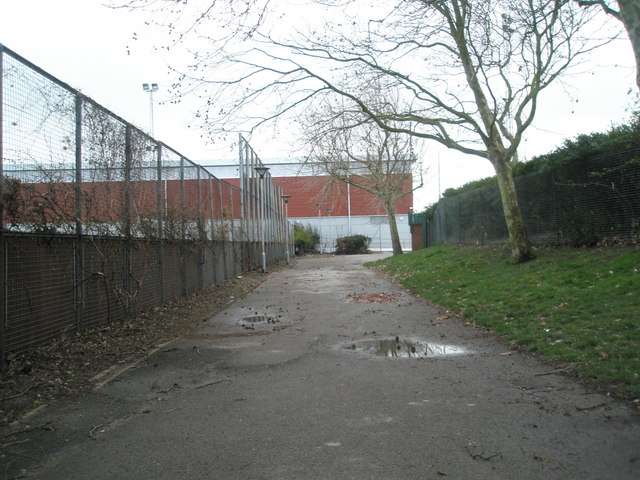 Path between all weather pitch and main stadium