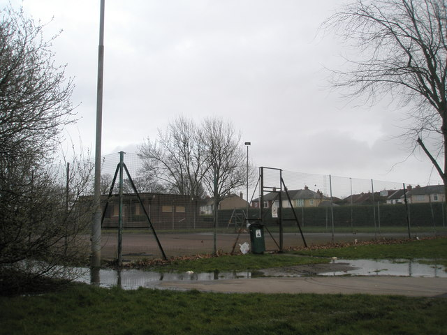 Deserted tennis courts at Alexandra Park