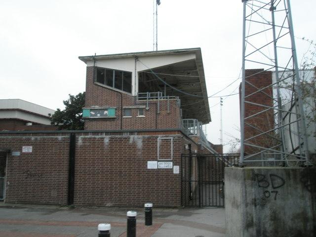 Main stand at Alexandra Park Stadium