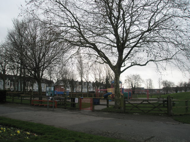 Children's play area at Alexandra Park