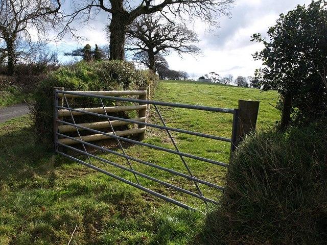 Gate near Trebeath