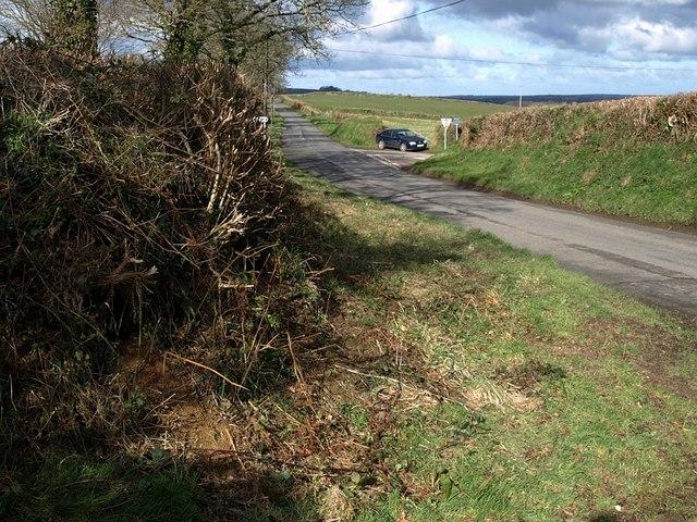 Road past Trebeath