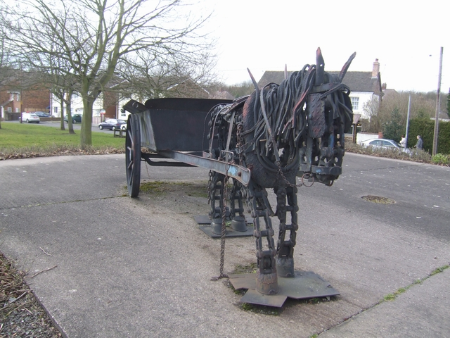 Pit pony outside the Miner's Arms