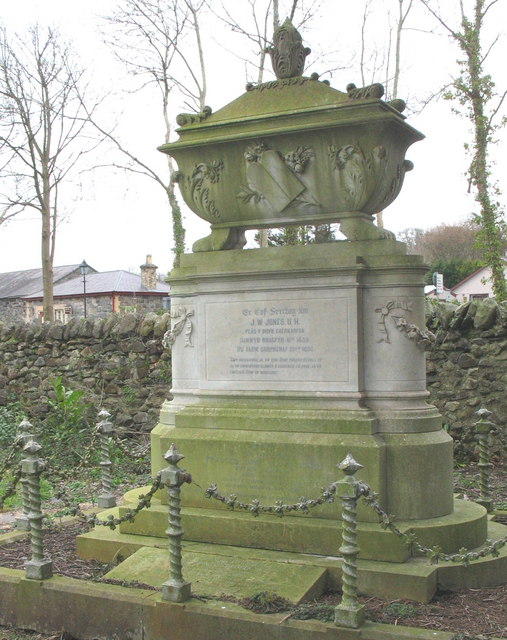 The ostentatious tomb of J.W.Jones U.H.