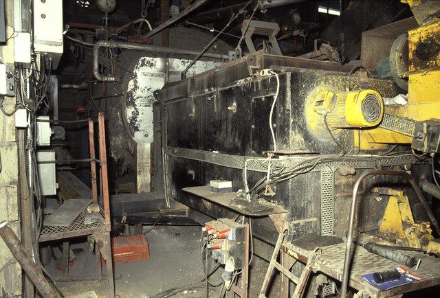 A J Woodward, Beckford, boiler house