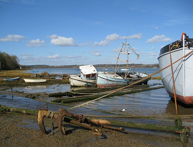 Foreshore of the River Orwell at Pin Mill
