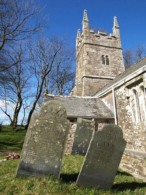 Gravestones, Church of St Winwallo, Tremaine