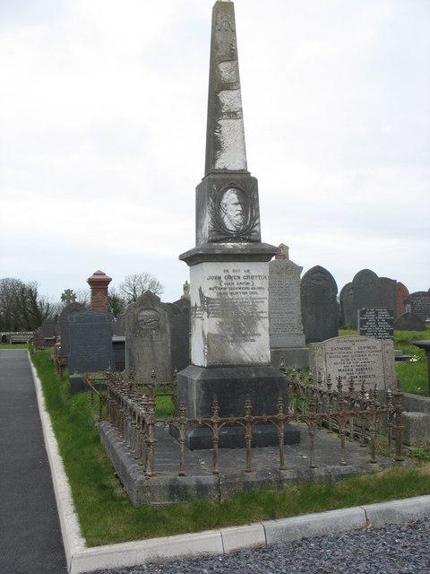 Raised by public subscription - the tomb of Ioan Arfon