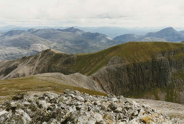 View south from Ruadh-stac Mor