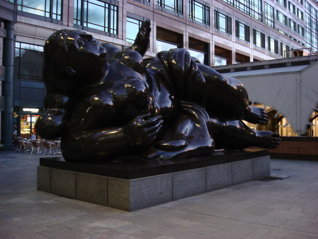 Sculpture of a fallen woman, Exchange Square