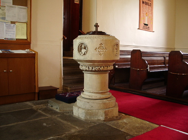 Parish Church of St Wilfrid, Pool-in-Wharfedale, Font