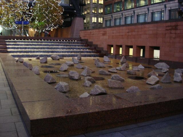 Zen fountain, Exchange Square