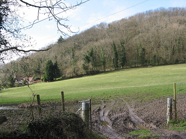 Muddy hillside entrance