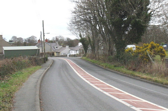 The southern outskirts of the hamlet of Dolydd