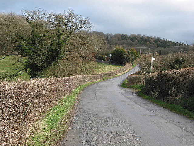 Road to Woolhope from Fownhope