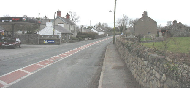 The former A487 at the hamlet of Dolydd