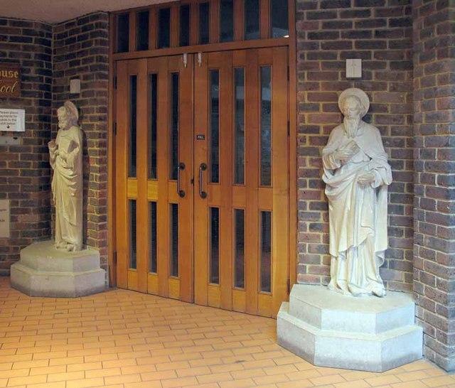 St Peter & St Paul, Church Road, Teddington, Mx TW11 8PS - Interior entrance to church