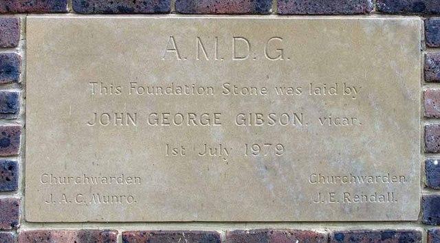 St Peter & St Paul, Church Road, Teddington, Mx TW11 8PS - Foundation stone
