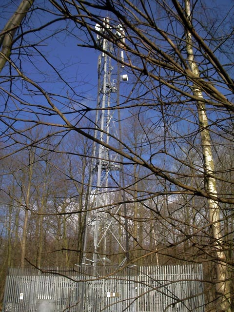 Communications mast next to A616