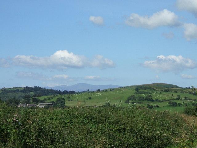 Carneddau mountains from Llannefydd