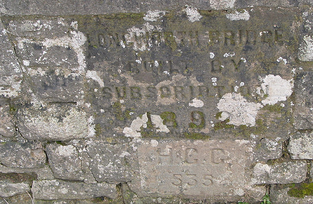Date stone on Longworth Bridge, 1892