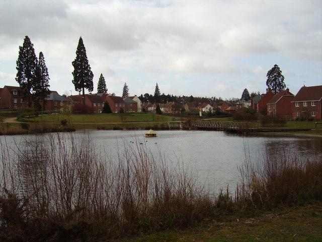 Elvetham Heath village pond