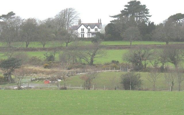Gwylfa Stud seen across farmland