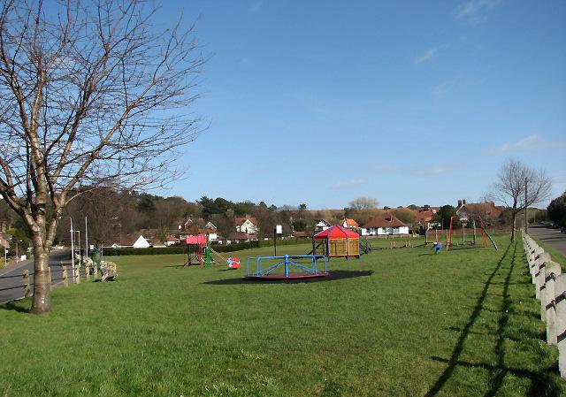 Children's playground on village green