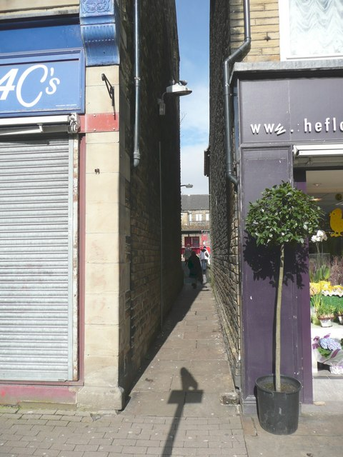 Snicket off Commercial Street, Brighouse