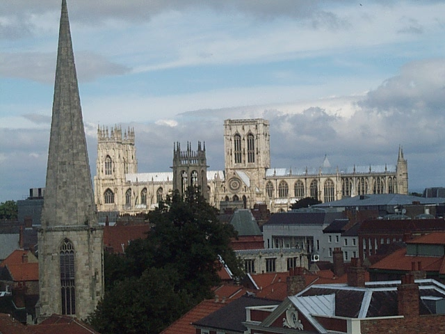York skyline viewed from the City walls