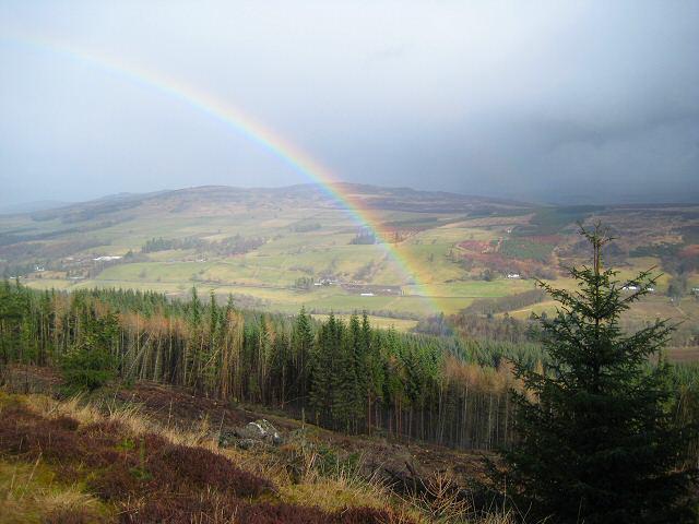 Rainbow over Strath Ardle