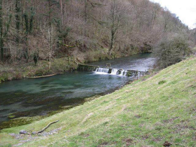 River Lathkill Weir upstream from Conksbury Bridge