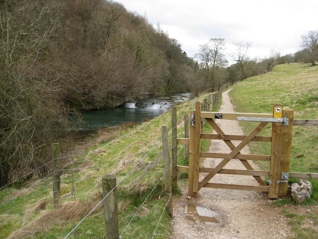River Lathkill and Footpath below Over Haddon