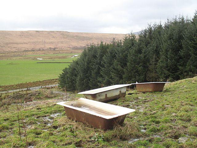 Three baths in a field, Auchengaich