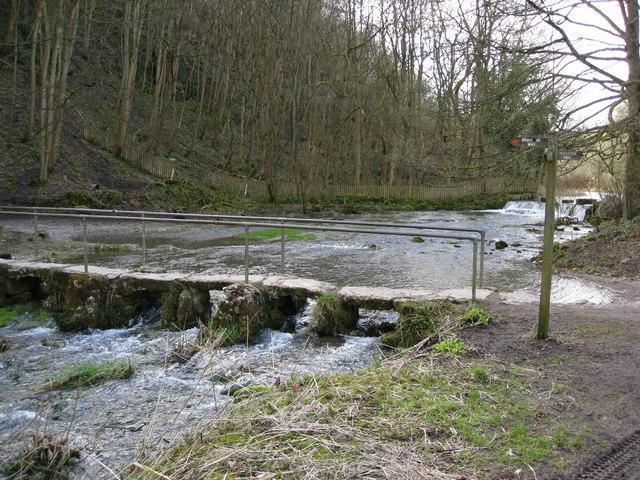 River Lathkill Footbridge near Lathkill Lodge