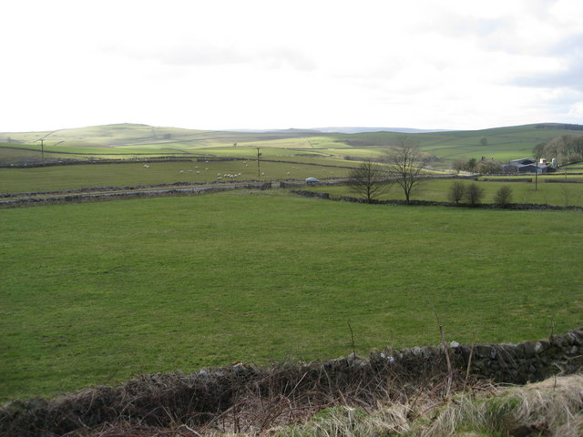 Parsley Hay Car Park - View towards Dale Farm