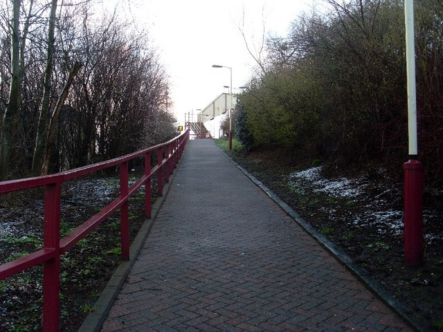 Ramp to Clydebank train station