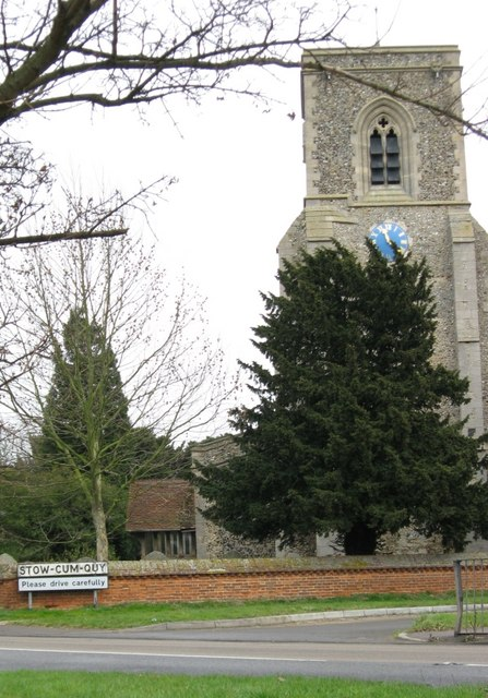Stow-cum-Quy church and village sign