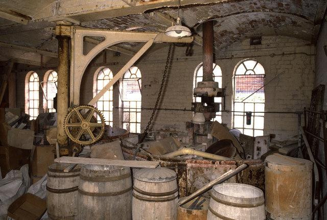 Royal Worcester bone mill pan room