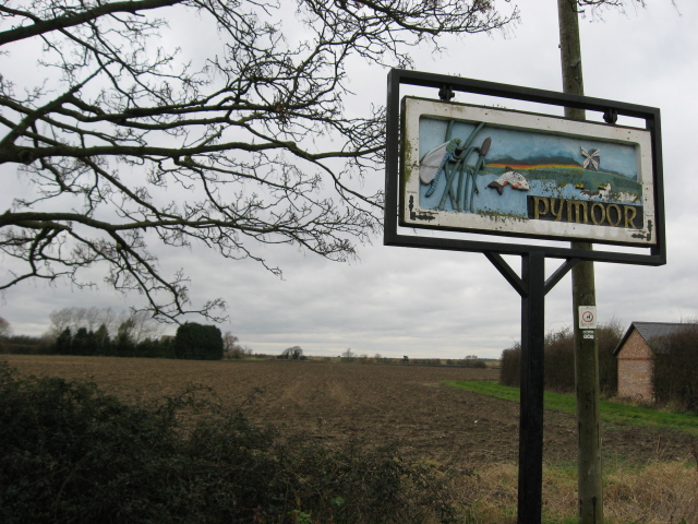 Pymoor village sign