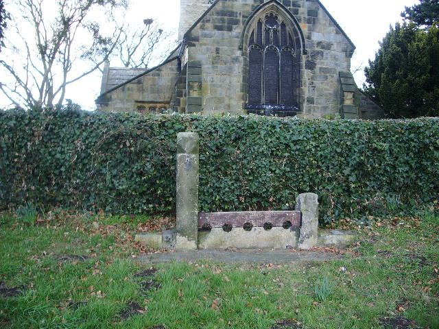 Stocks, near by St Oswald's Church, Leathley