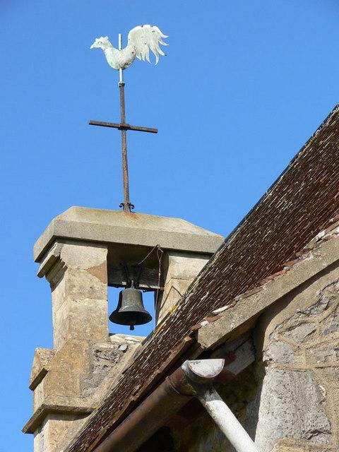 Luton (Devon) Church weather vane and bell