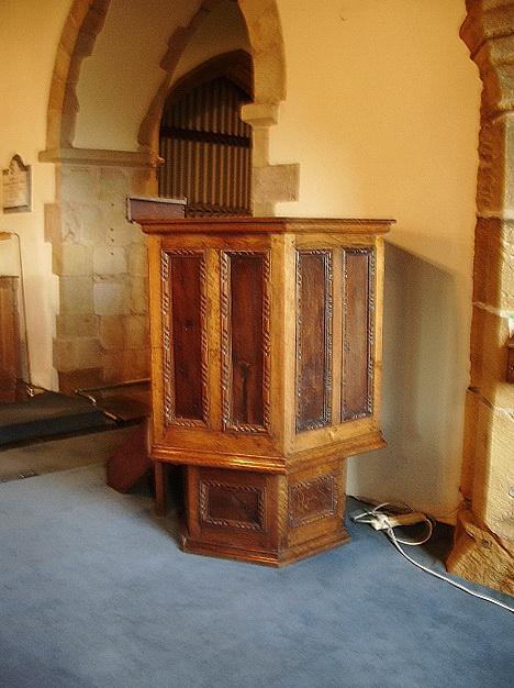 The Parish Church of St Oswald, Leathley, Pulpit